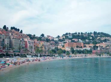 Ментон, французский городок возле Италии